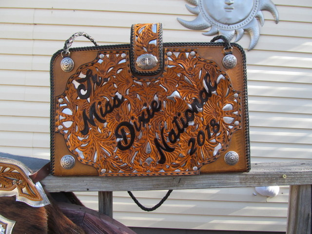 Custom Tooled Briefcase Rodeo Queen Briefcase Rodeo Queen